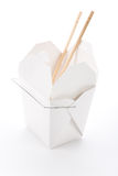 To-Go Box. Chinese To-Go Box with white background Stock Photography
