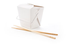 To-Go Box. Chinese To-Go Box with white background Royalty Free Stock Photo