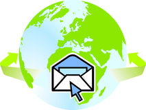 To go global-mail Royalty Free Stock Photos