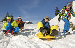 To go sledding Royalty Free Stock Image