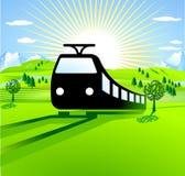 To go by train. Railways Stock Image