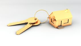 To gold keys to new house Royalty Free Stock Image
