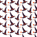 tło Halloween szczęśliwy bezszwowy wzoru Obraz Royalty Free