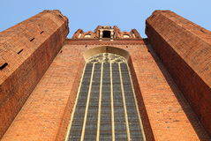 To Heaven. Fragment of the cathedral in Pelplin, Poland royalty free stock images
