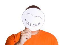 To hide emotions Royalty Free Stock Photo