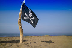 To hoist the flag of the pirates Royalty Free Stock Photography