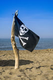 To hoist the flag of the pirates Stock Photography