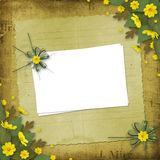 To the holiday with paper and yellow flowers Stock Image