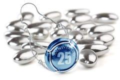 25to Invitación del aniversario 3D Foto de archivo libre de regalías
