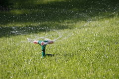 To irrigate a lawn. Stock Image