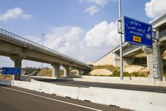 To Jerusalem. Freeway between Jerusalem and the city of Rishon Royalty Free Stock Image
