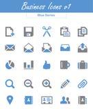 Biznesowe ikony v1 (Błękitne serie) Obrazy Stock