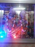 To jest fotografia władyki Krishna w świątyni i radha obrazy royalty free