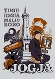 TO JEST JOGJA Obraz Royalty Free
