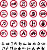 Prohibicja znaki Zdjęcia Royalty Free