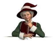 to jest krawędź elf Świętego mikołaja Obrazy Royalty Free