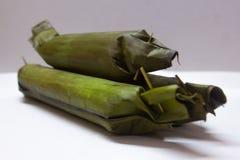 To jest Lontong, tradycyjny jedzenie który jest w Azji Południowo Wschodniej fotografia stock
