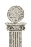 Euro statua Fotografia Stock