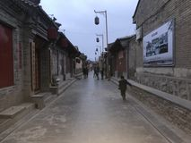 To jest ochraniający antyczny Chiński ulica obrazy stock
