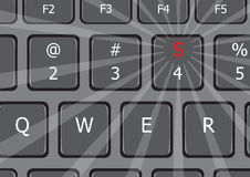 To jest pieniądze laptopu klawiatura USA Zdjęcie Royalty Free