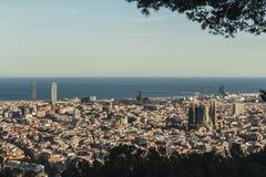 To jest spektakularny widok Barcelona, Hiszpania fotografia stock