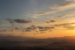 To jest troszkę mgła na górze evening Mnie imię `` Khao Kh Obraz Royalty Free