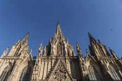 To jest widok katedra Święty krzyż Eulalia Catedral De Los angeles Santa Cruz y Santa Eulalia w hiszpańszczyznach i święty wewnąt fotografia royalty free