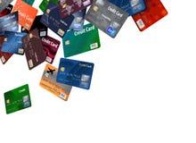 To jest wielki grupa latanie, spławowe kredytowe karty royalty ilustracja