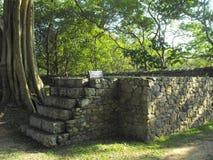 TO JEST wizerunku YAPAHUWA skały PIĘKNY forteca SRI LANKA zdjęcia stock