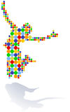 To join the dots, jubilation. Colorful Royalty Free Stock Photography