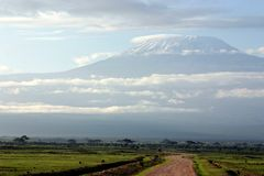 To Kilimanjaro. On the way to Kilimanjaro in Amboseli Royalty Free Stock Photography