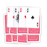 To lead an ace. Hand cards and a ace on a white background Stock Photo