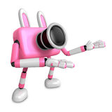To the Left toward the Pink Camera Character guide you. Create 3 Royalty Free Stock Photos