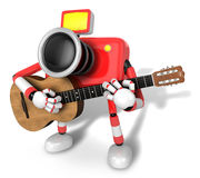 To the left toward the Red Camera Character playing the guitar. Royalty Free Stock Photo
