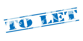 To let blue stamp Royalty Free Stock Photo