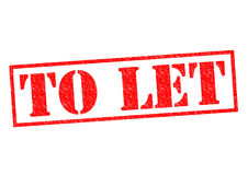 TO LET. Red Rubber Stamp over a white background Stock Images