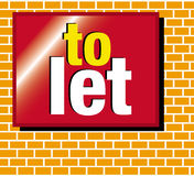 To let for sale sign. A to let sign on a brick background Stock Photo