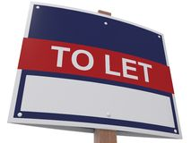 To Let sign Royalty Free Stock Photo