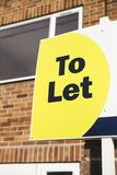 To Let Sign Outside House Stock Images