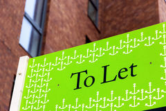 To Let signs outside a English townhouse. In London Stock Images