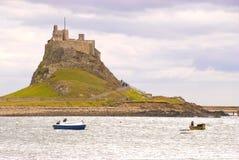 to lindisfarne zamku Obraz Royalty Free