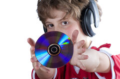 To listen music Stock Photography