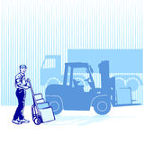 To load and to supply royalty free stock photos