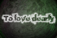 To love dearly text on background. Concept Royalty Free Stock Images