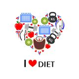 To love diet Stock Image