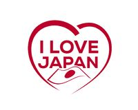 to love Japan royalty ilustracja