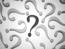 To many question marks rendered Royalty Free Stock Images