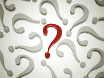 To many question marks Royalty Free Stock Photo