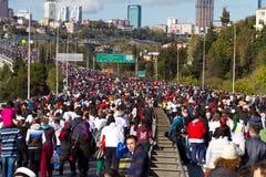 35to maratón de Estambul Eurasia Fotografía de archivo libre de regalías