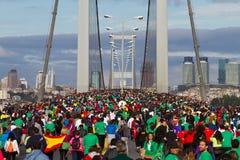 35to maratón de Estambul Eurasia Imagenes de archivo